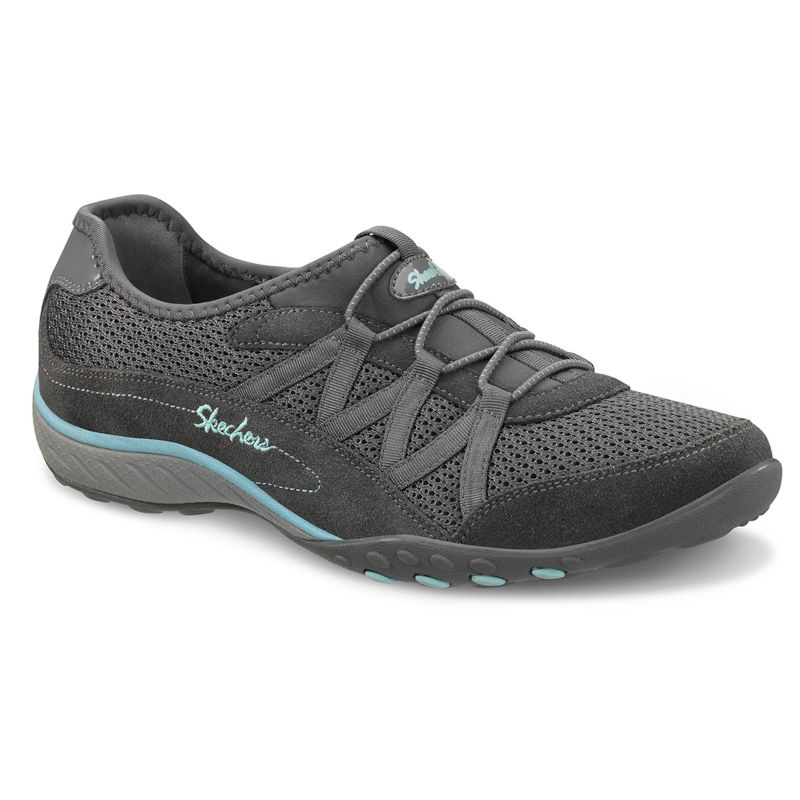 skechers grey relaxed fit breathe easy relaxation slip on