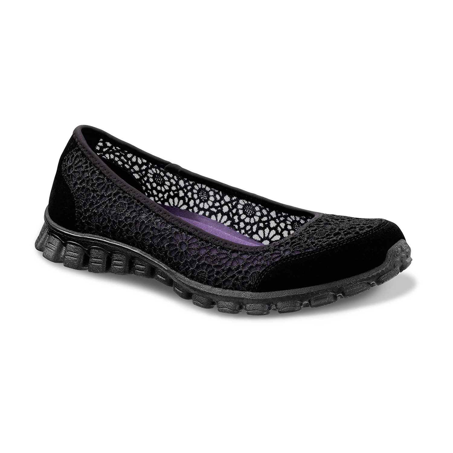 skechers sport women's ez flex sweetpea slip-on flat