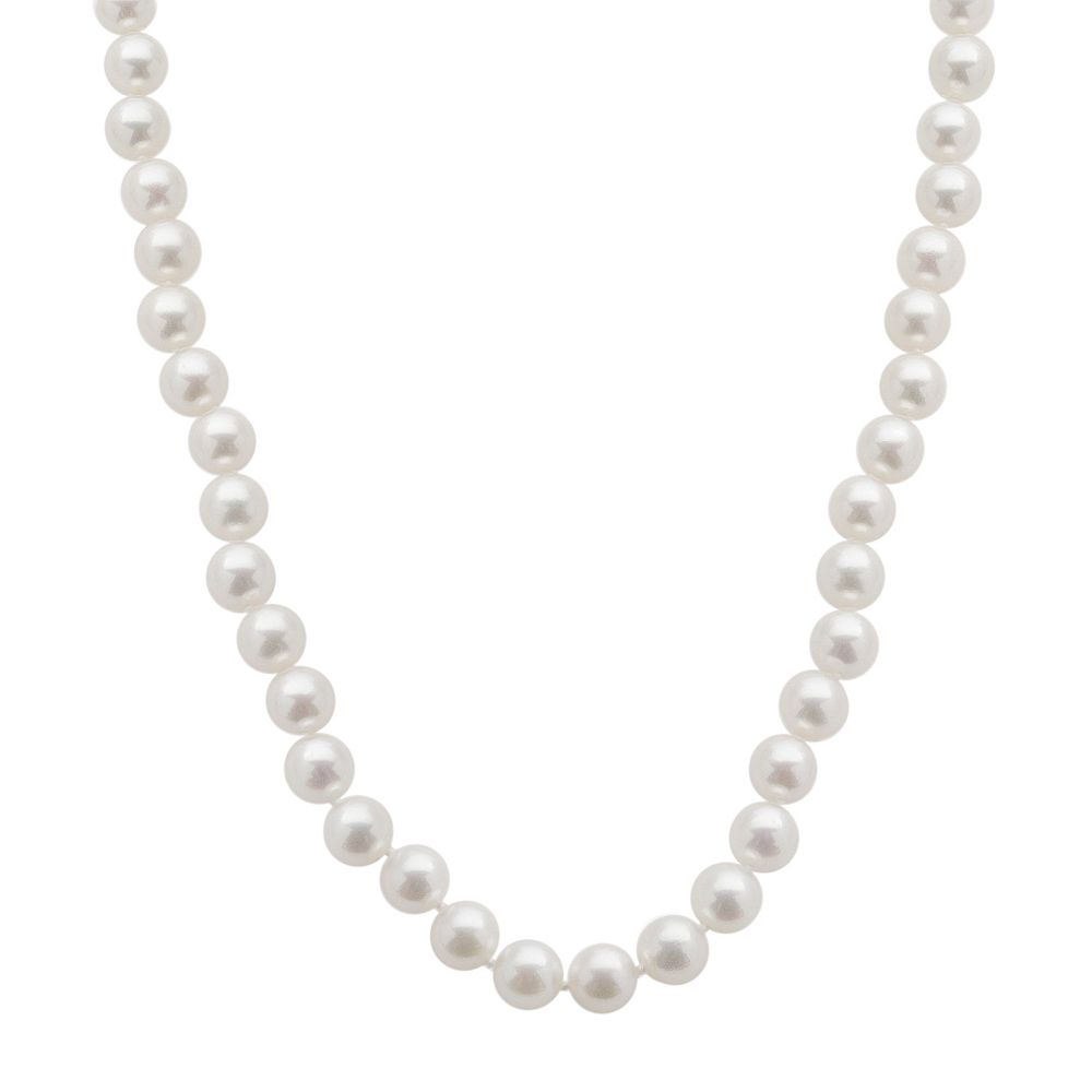 18k White Gold AA Akoya Cultured Pearl Necklace - 18 in.