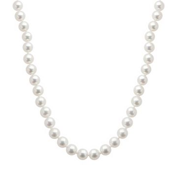 18k White Gold AAA Akoya Cultured Pearl Necklace - 18 in.