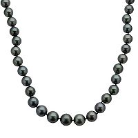 18k White Gold Tahitian Cultured Pearl Necklace (9-11.5 mm) - 18 in