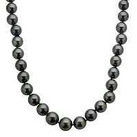 18k White Gold Tahitian Cultured Pearl Necklace (10-12.5 mm) - 18 in