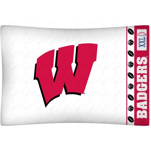Wisconsin Badgers Standard Pillowcase