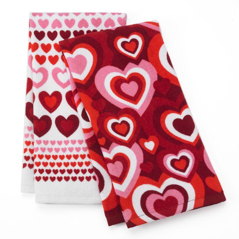 Valentine Day Hearts Kitchen Towels Kohl