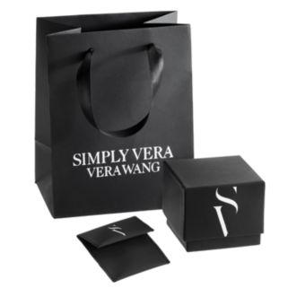 Simply Vera Vera Wang Sterling Silver Blue Topaz and 1/4-ct. T.W. Diamond Pendant