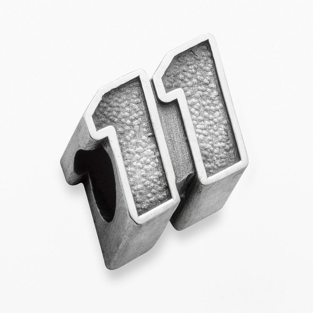 "Insignia Collection NASCAR Denny Hamlin Sterling Silver ""11"" Bead"