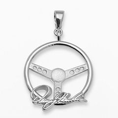 Insignia Collection NASCAR Denny Hamlin Sterling Silver Steering Wheel Pendant