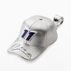 Insignia Collection NASCAR Denny Hamlin Sterling Silver '11' Baseball Cap Pendant