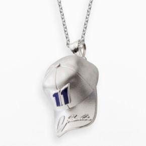 Insignia Collection NASCAR Denny Hamlin Sterling Silver 11 Baseball Cap Pendant
