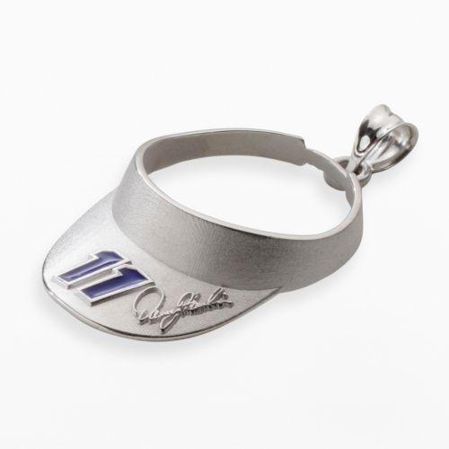 Insignia Collection NASCAR Denny Hamlin Sterling Silver 11 Visor Pendant