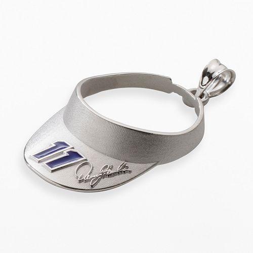 "Insignia Collection NASCAR Denny Hamlin Sterling Silver ""11"" Visor Pendant"