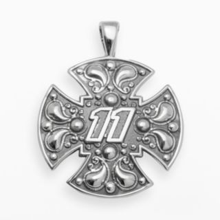 Insignia Collection NASCAR Denny Hamlin Sterling Silver 11 Maltese Cross Pendant
