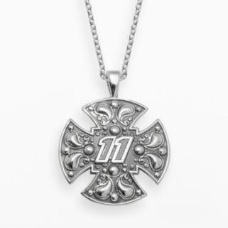 Insignia Collection NASCAR Denny Hamlin Sterling Silver 11 Maltese Cross Pendant