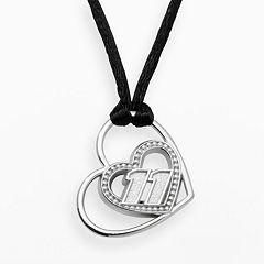 Insignia Collection NASCAR Denny Hamlin Sterling Silver '11' Heart Pendant