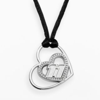 Insignia Collection NASCAR Denny Hamlin Sterling Silver 11 Heart Pendant