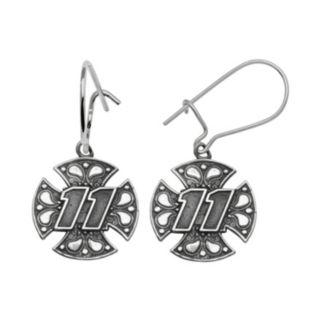 Insignia Collection NASCAR Denny Hamlin Sterling Silver 11 Maltese Cross Drop Earrings
