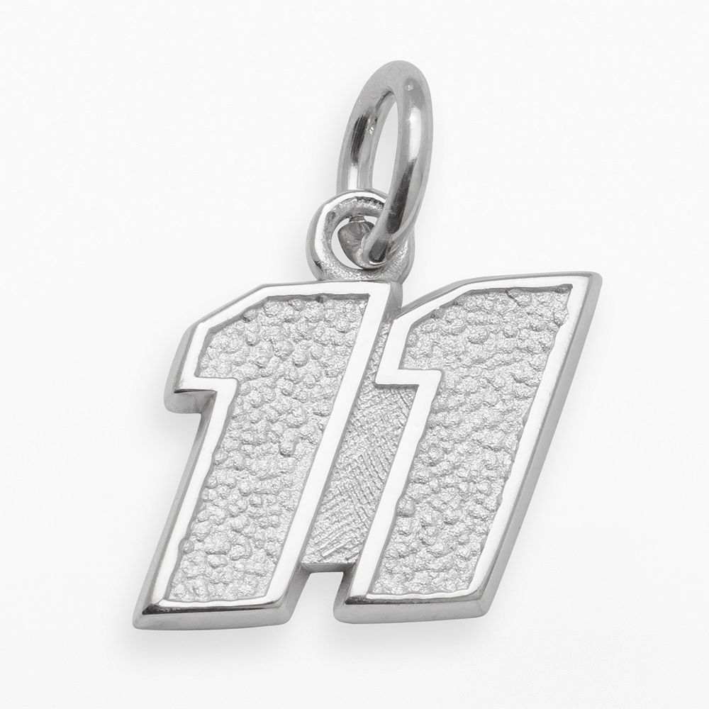 "Insignia Collection NASCAR Denny Hamlin Sterling Silver ""11"" Pendant"