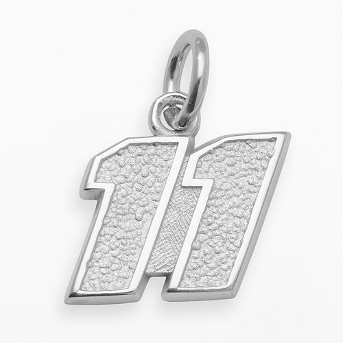 "Insignia Collection NASCAR Denny Hamlin Sterling Silver ""11"" Pendant"