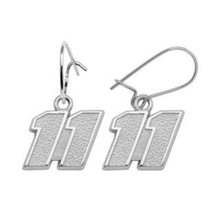 Insignia Collection NASCAR Denny Hamlin Sterling Silver 11 Drop Earrings