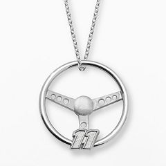 Insignia Collection NASCAR Denny Hamlin Sterling Silver '11' Steering Wheel Pendant