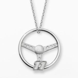 Insignia Collection NASCAR Denny Hamlin Sterling Silver 11 Steering Wheel Pendant