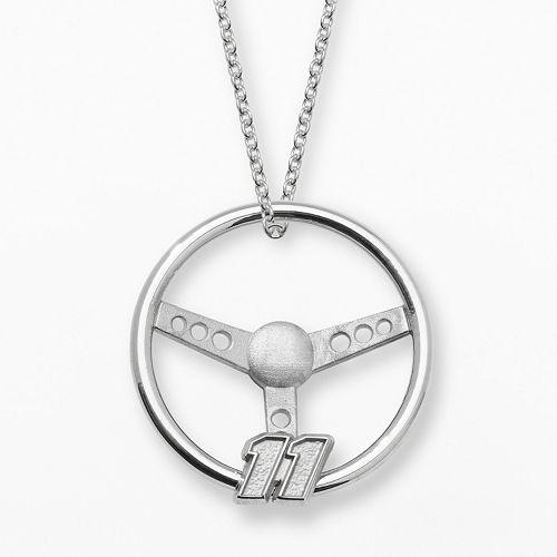 "Insignia Collection NASCAR Denny Hamlin Sterling Silver ""11"" Steering Wheel Pendant"
