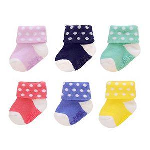 Baby Carter's 6-pk. Stripe & Applique Socks