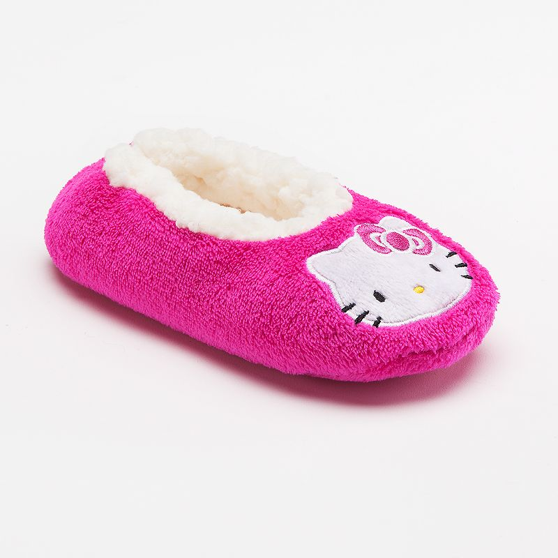 Hello Kitty Solid Fuzzy Slippers - Girls