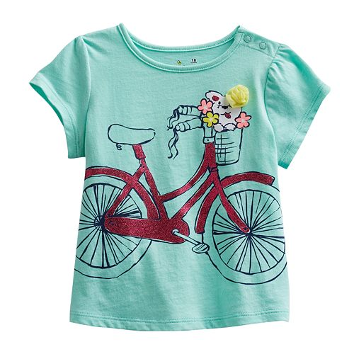 Jumping Beans® Bicycle Babydoll Tee - Baby