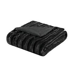 Madison Park Duke Faux-Fur Throw