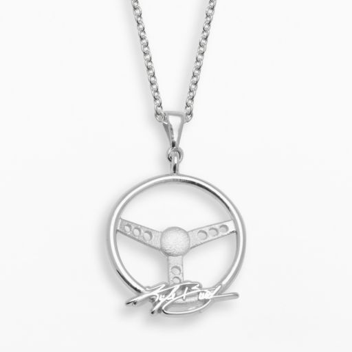 Insignia Collection NASCAR Kyle Busch Sterling Silver Steering Wheel Pendant