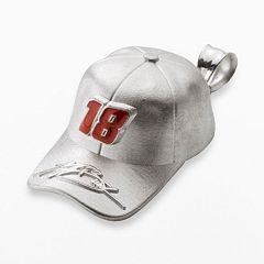 Insignia Collection NASCAR Kyle Busch Sterling Silver '18' Baseball Cap Pendant