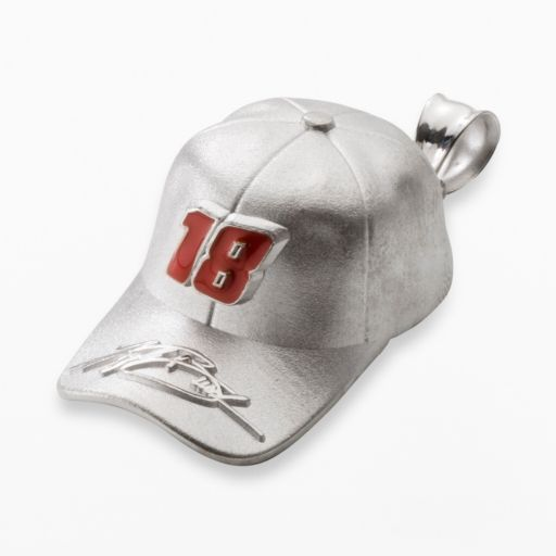 Insignia Collection NASCAR Kyle Busch Sterling Silver 18 Baseball Cap Pendant
