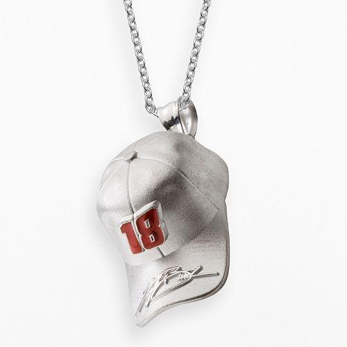 """Insignia Collection NASCAR Kyle Busch Sterling Silver """"18"""" Baseball Cap Pendant"""