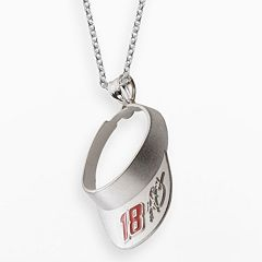 Insignia Collection NASCAR Kyle Busch Sterling Silver '18' Visor Pendant