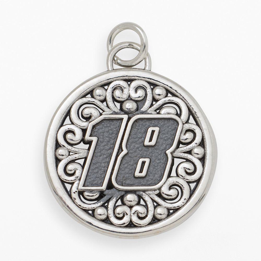 "Insignia Collection NASCAR Kyle Busch Sterling Silver ""18"" Pendant"