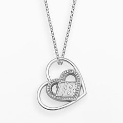 Insignia Collection NASCAR Kyle Busch Sterling Silver '18' Heart Pendant