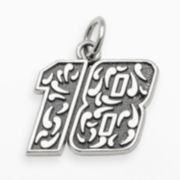 "Insignia Collection NASCAR Kyle Busch Sterling Silver ""18"" Pendant"
