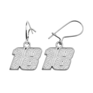 Insignia Collection NASCAR Kyle Busch Sterling Silver 18 Drop Earrings