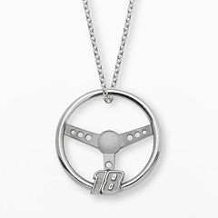Insignia Collection NASCAR Kyle Busch Sterling Silver '18' Steering Wheel Pendant