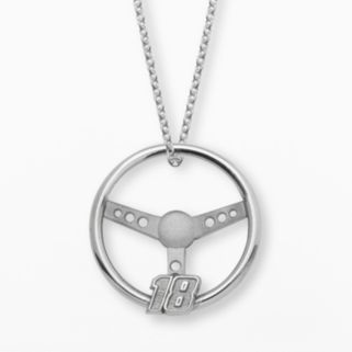 Insignia Collection NASCAR Kyle Busch Sterling Silver 18 Steering Wheel Pendant