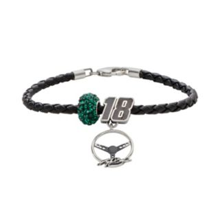 Insignia Collection NASCAR Kyle Busch Leather Bracelet, Charm and Bead Set