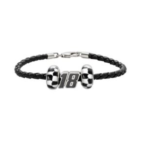 Insignia Collection NASCAR Kyle Busch Leather Bracelet and Bead Set