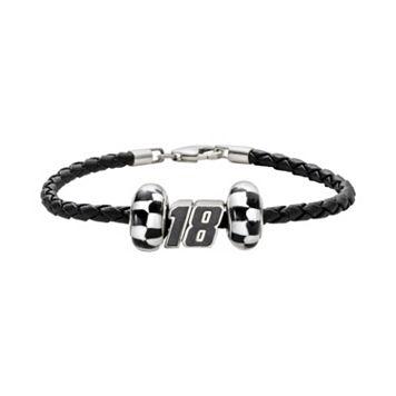 Insignia Collection NASCAR Kyle Busch Leather Bracelet & Bead Set