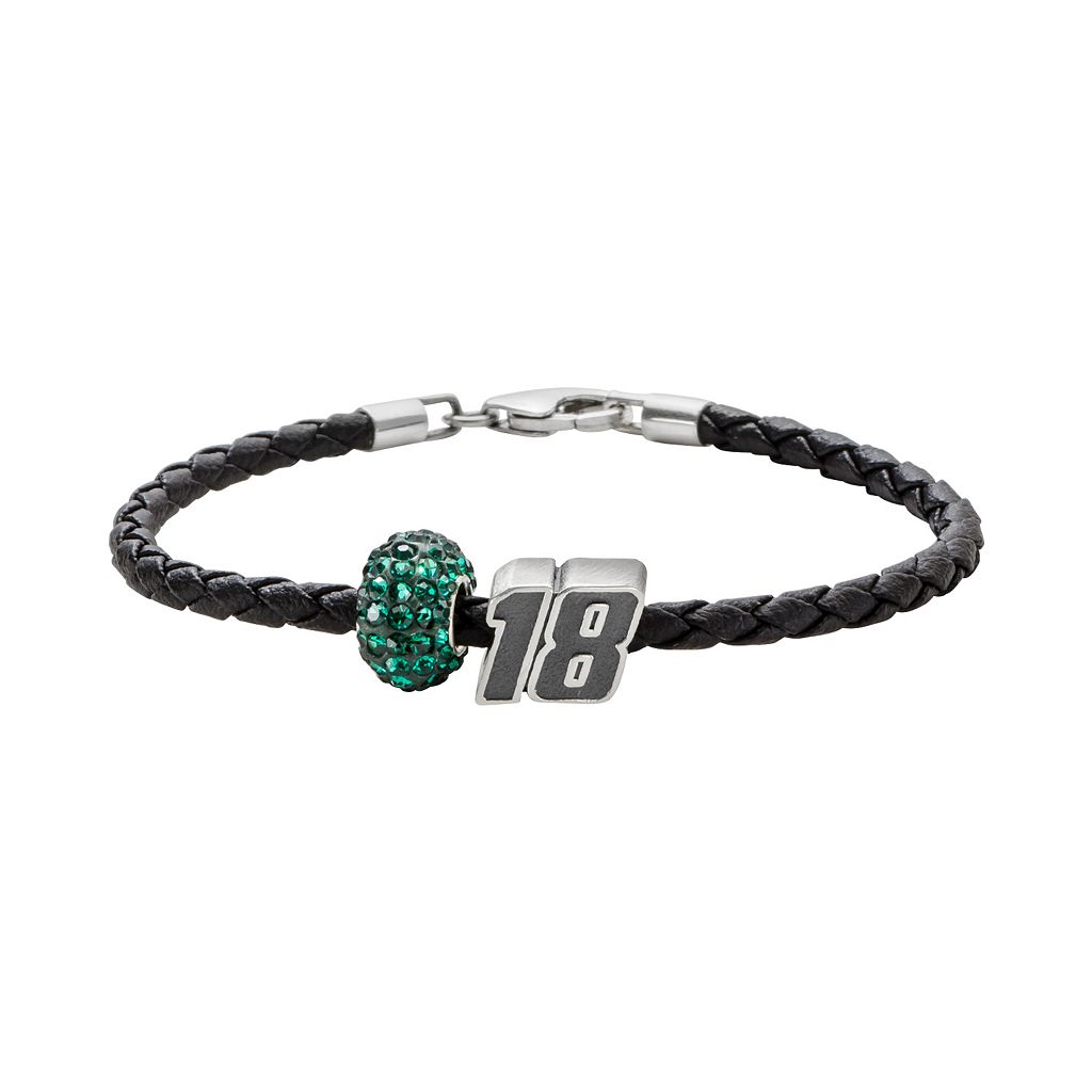Insignia Collection NASCAR Kyle Busch Leather Bracelet &