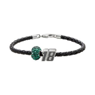 Insignia Collection NASCAR Kyle Busch Leather Bracelet and 18 Bead and Crystal Bead Set