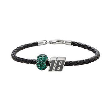 Insignia Collection NASCAR Kyle Busch Leather Bracelet &