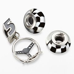 Insignia Collection NASCAR Kasey Kahne Sterling Silver '5' Steering Wheel Charm & Bead Set