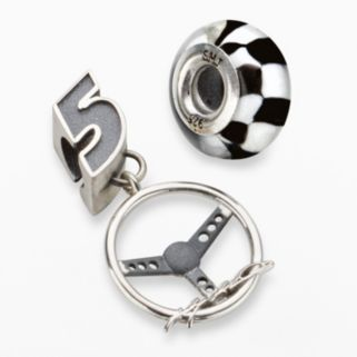 Insignia Collection NASCAR Kasey Kahne Sterling Silver 5 Steering Wheel Charm and Bead Set