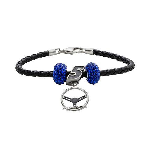 Insignia Collection NASCAR Kasey Kahne Leather Bracelet & Steering Wheel Charm & Bead Set